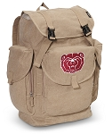 Missouri State University LARGE Canvas Backpack Tan