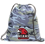 Miami University Redhawks Drawstring Backpack Blue Camo