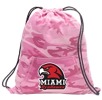 Miami University Redhawks Drawstring Backpack Pink Camo