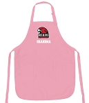 Miami University Grandma Apron Pink - MADE in the USA!