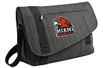 Miami University Redhawks Messenger Laptop Bag Stylish Charcoal