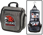 Miami University Toiletry Bag or Shaving Kit Gray
