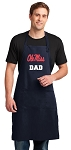 Ole Miss Dad Apron LARGE Navy