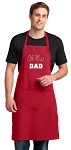Ole Miss Dad Large Apron Red