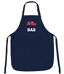 Ole Miss Dad Apron Navy