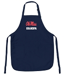 Official Ole Miss Grandpa Aprons Navy