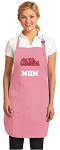 Ole Miss Mom Apron Pink - MADE in the USA!