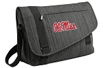 Ole Miss Messenger Laptop Bag Stylish Charcoal