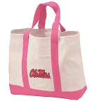 Ole Miss Tote Bags Pink