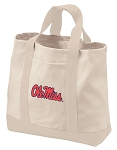 Ole Miss Tote Bags NATURAL CANVAS