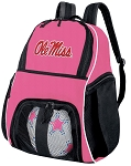 Girls Ole Miss Soccer Backpack or University of Mississippi Volleyball Bag