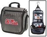 Ole Miss Toiletry Bag or Mississippi Shaving Kit Gray