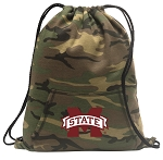 Mississippi State Drawstring Backpack Green Camo