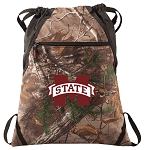 Mississippi State RealTree Camo Cinch Pack