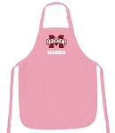Mississippi State Grandma Apron Pink - MADE in the USA!
