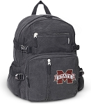 Mississippi Stat Canvas Backpack Black