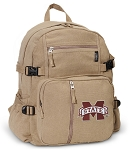 Mississippi State University Canvas Backpack Tan