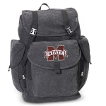 Mississippi Stat LARGE Canvas Backpack Black