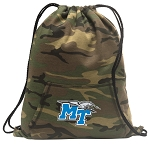 Middle Tennessee Drawstring Backpack Green Camo