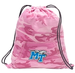 Girls Middle Tennessee Drawstring Backpack Pink Camo
