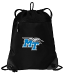 Middle Tennessee Drawstring Backpack-MESH & MICROFIBER