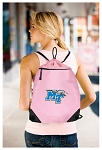 Middle Tennessee Drawstring Backpack-MESH & MICROFIBER Pink