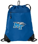 Middle Tennessee Drawstring Backpack-MESH & MICROFIBER Blue