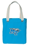 Middle Tennessee Tote Bag RICH COTTON CANVAS Turquoise