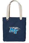 Middle Tennessee Tote Bag RICH COTTON CANVAS Navy