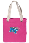 Middle Tennessee Tote Bag RICH COTTON CANVAS Pink