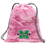 Marshall University Drawstring Backpack Pink Camo