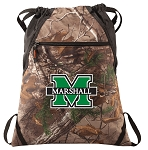 Marshall University RealTree Camo Cinch Pack