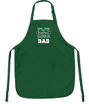 Deluxe Marshall University Dad Apron MADE IN THE USA Green