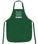 Deluxe Marshall University Grandpa Apron MADE IN THE USA Green