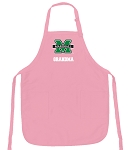 Deluxe Marshall University Grandma Apron Pink - MADE in the USA!