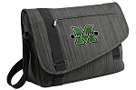 Marshall University Messenger Laptop Bag Stylish Charcoal