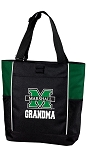 Marshall University Grandma Tote Bag Hunter Green
