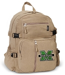 Marshall University Canvas Backpack Tan