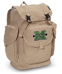 Marshall University LARGE Canvas Backpack Tan