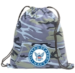 US NAVY Drawstring Backpack Blue Camo