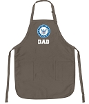 Official US NAVY Father Logo Apron Tan