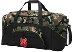 Official NC State Camo Duffel Bags