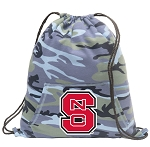 NC State Drawstring Backpack Blue Camo