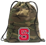 NC State Drawstring Backpack Green Camo