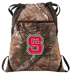 NC State RealTree Camo Cinch Pack