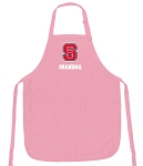NC State Grandma Apron Pink - MADE in the USA!