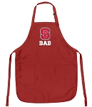 NC State Dad Aprons Red