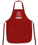NC State Grandpa Aprons Red