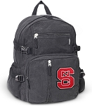 NC State Canvas Backpack Black