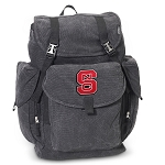 NC State LARGE Canvas Backpack Black